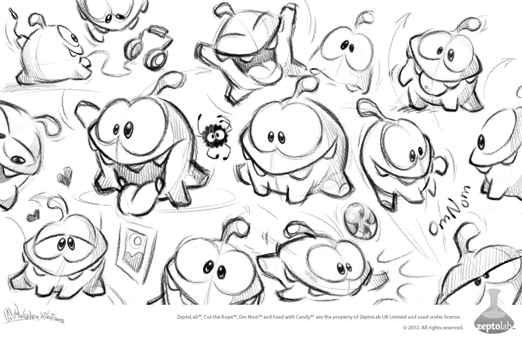 Ever wondered how the creative process in Cut the Rope works:)? Check out this behind the scene sketch from ZeptoLab's artists!