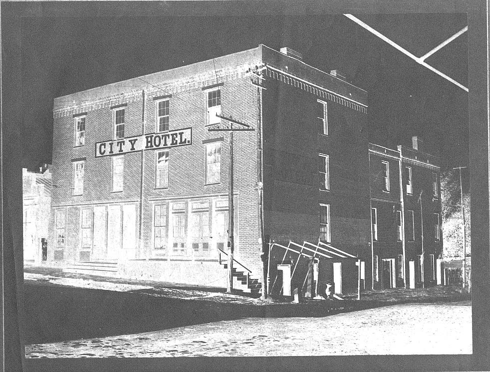 Hotel Building Sits Across The Street From The Johnson County Bank Tennessee State Library And Archives Photograph And I City Hotel Hotel Online Travel Sites