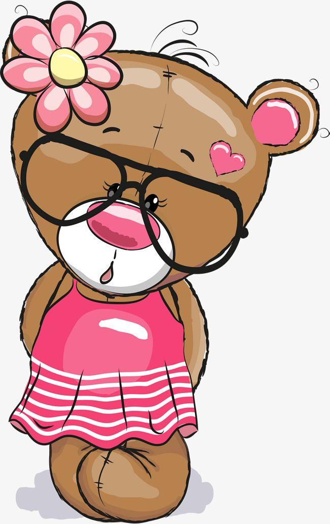 Brown Glasses Teddy Bear Cute Cartoon Wallpapers Baby Animal Drawings Teddy Bear Pictures