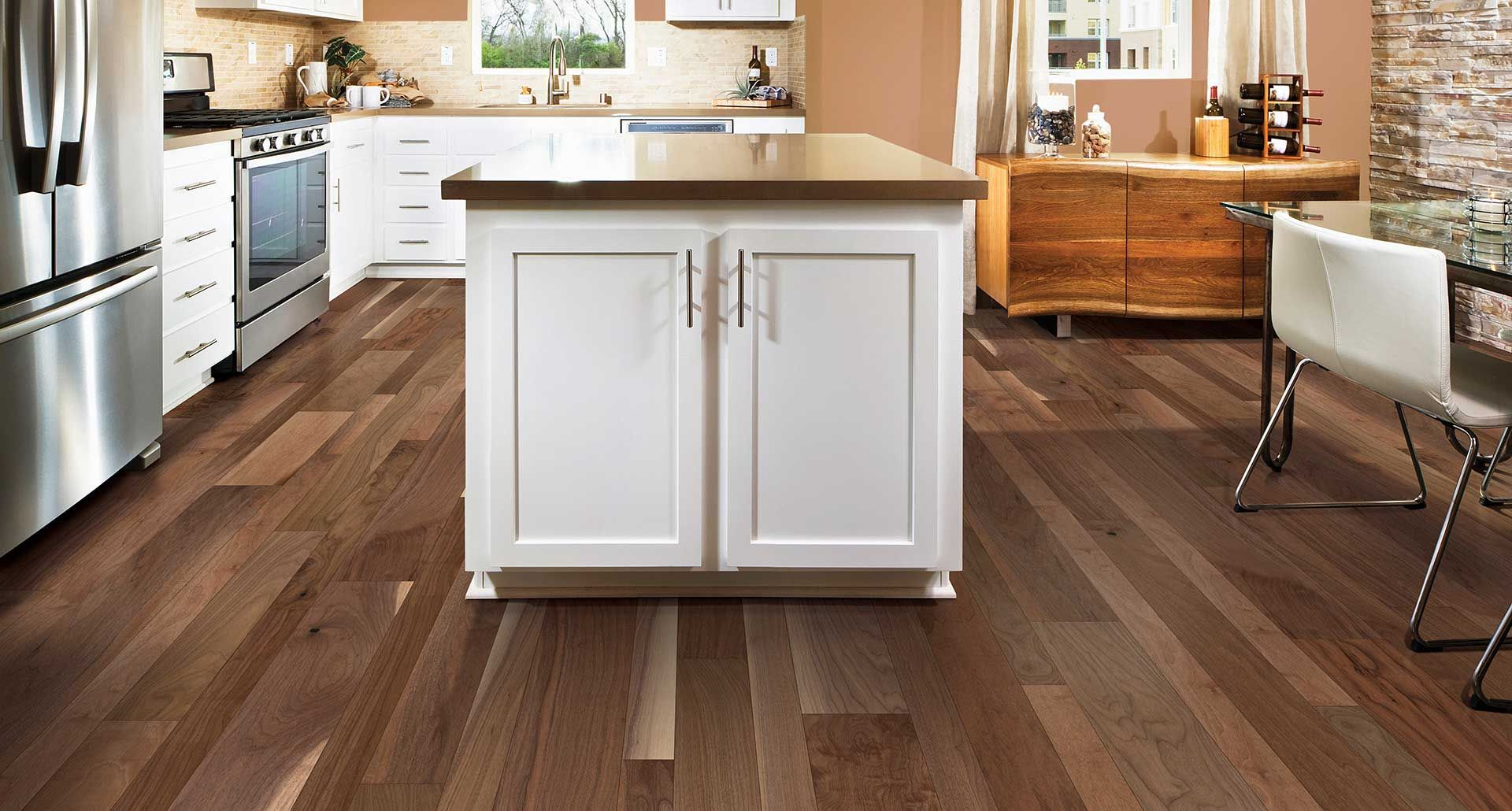 Walnut Kitchen Floor Hill Ridge Walnut Smooth Engineered Hardwood Floor Clear Walnut