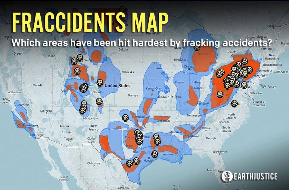 FRACCIDENTS MAP In case you missed it here is Earthjustices