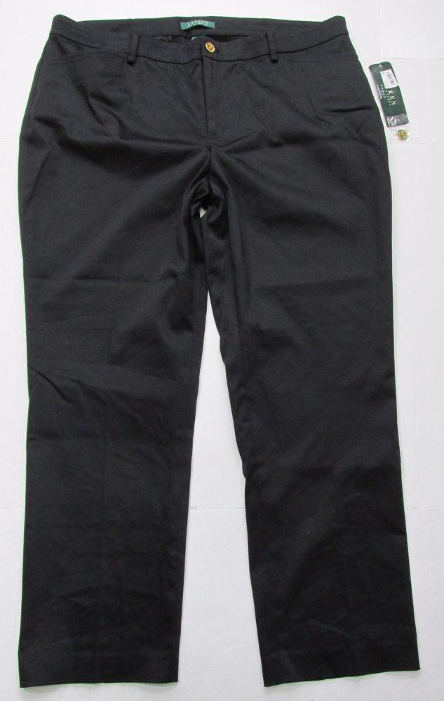 4e422833b2dc1 Ralph Lauren Women s Plus NWT Black Dress Casual Pants Size 16W 38 x 29   RalphLauren  CasualPants