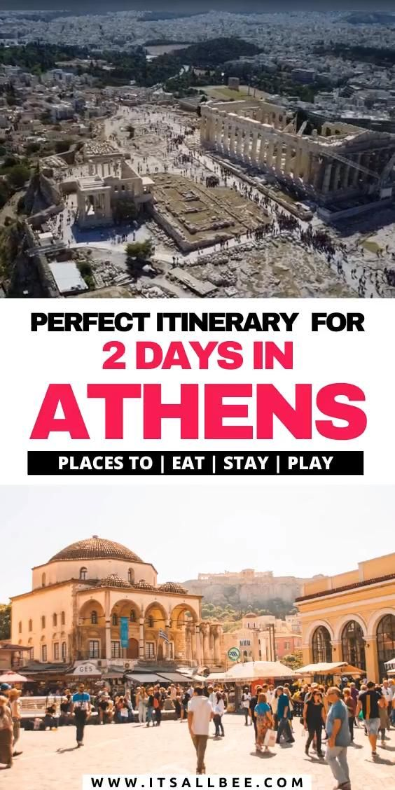 Perfect 2 days in Athens itinerary guide with places to visit, eat and stay. Tips on getting around, best time to visit, best day trips, tours and more. #itsallbee #traveltips #greece #europe #citybreak #beaches # | 2 days Athens itinerary | Athens two day itinerary | visit Athens in 2 days | things to see in Athens in 2 days | 2 days in athens|