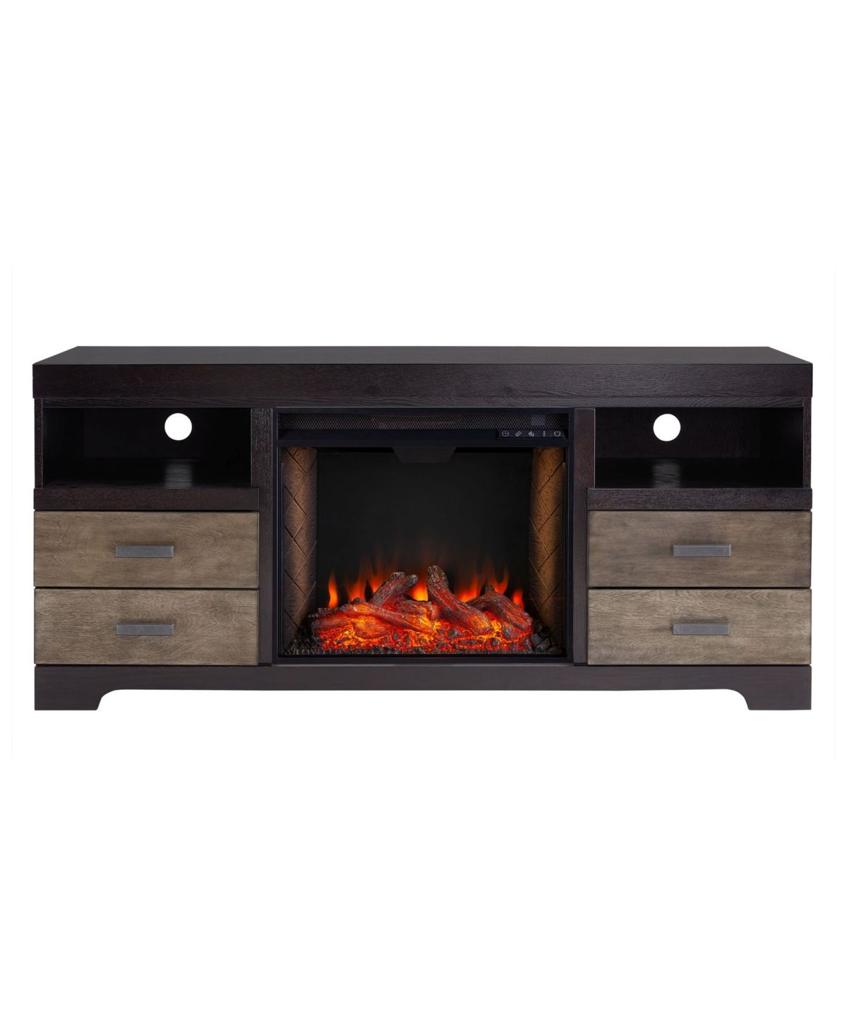Southern Enterprises Enzo Alexa Enabled Electric Fireplace With