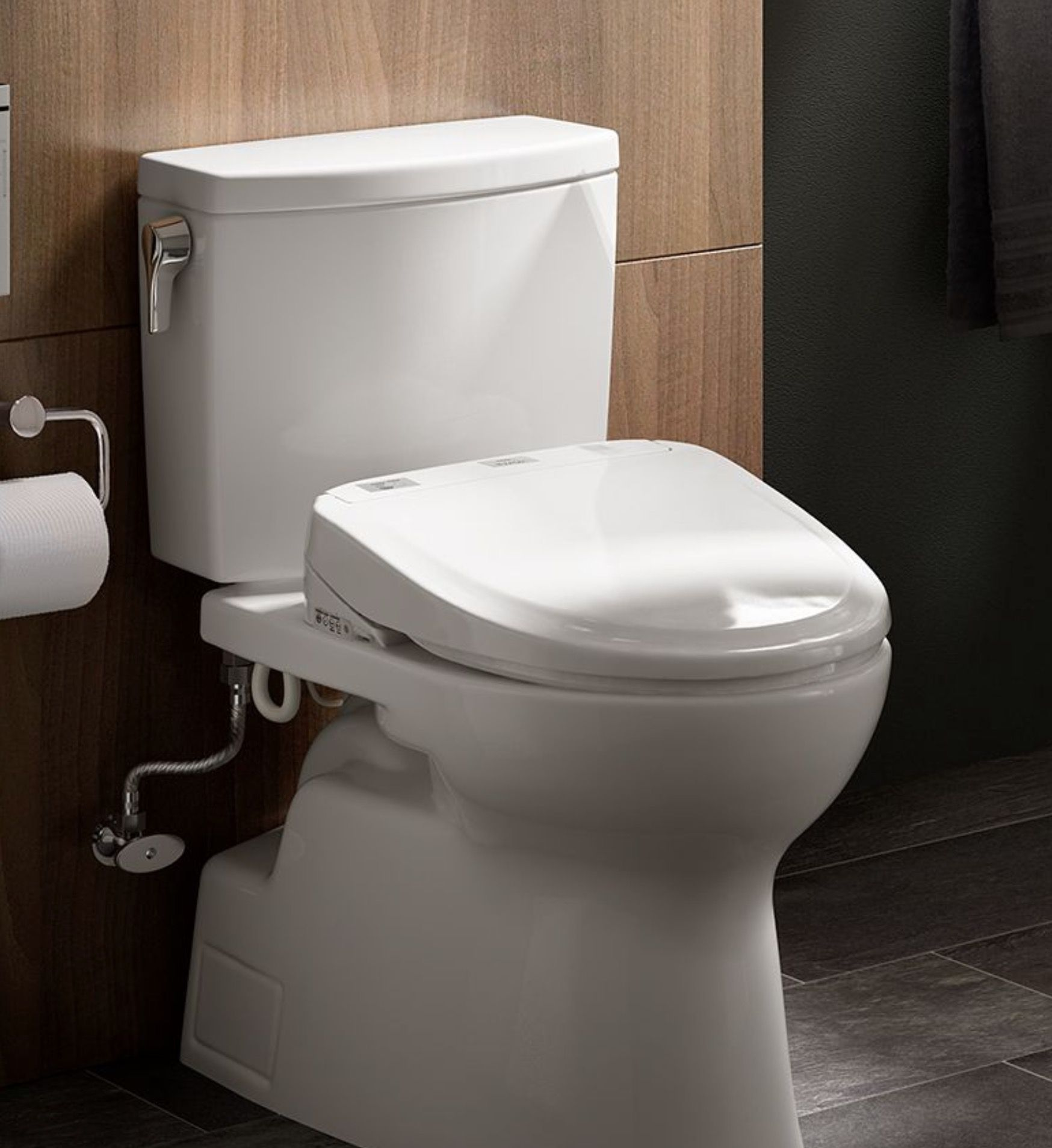 The TOTO WASHLET is an electronic bidet seat that cleanses