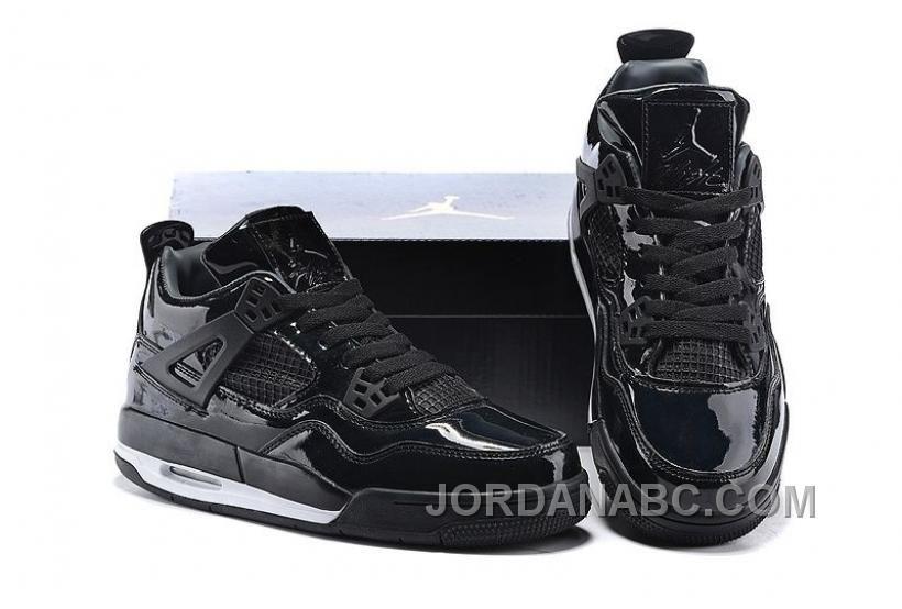 Air Jordan 4 Retro 11Lab4 Black Patent