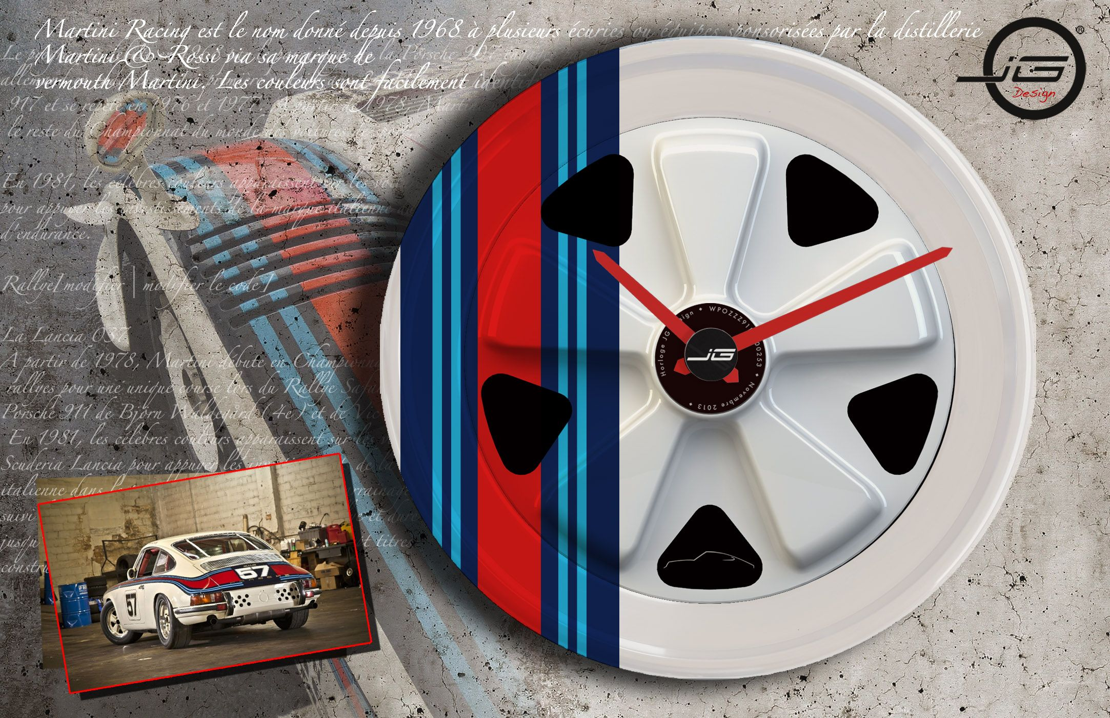 Martini Wall Clock Decoration Martini