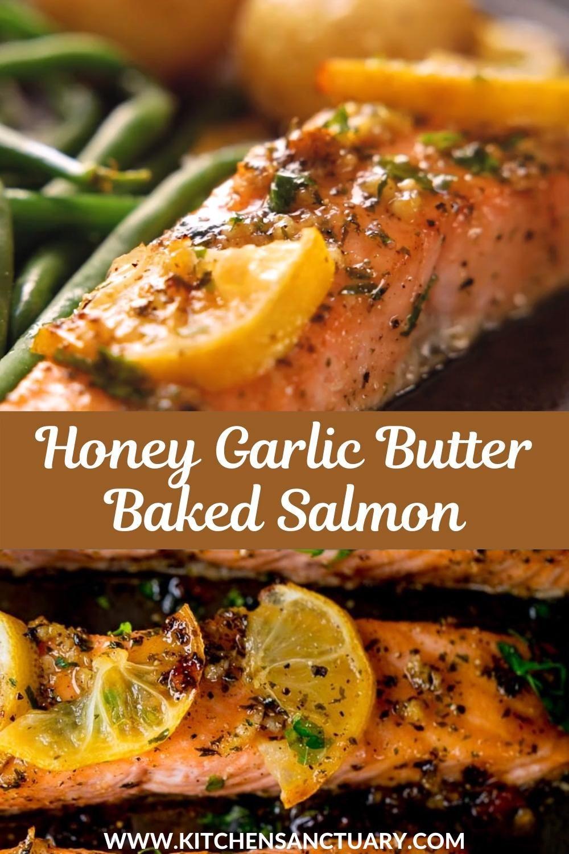 Honey Garlic Butter Baked Salmon
