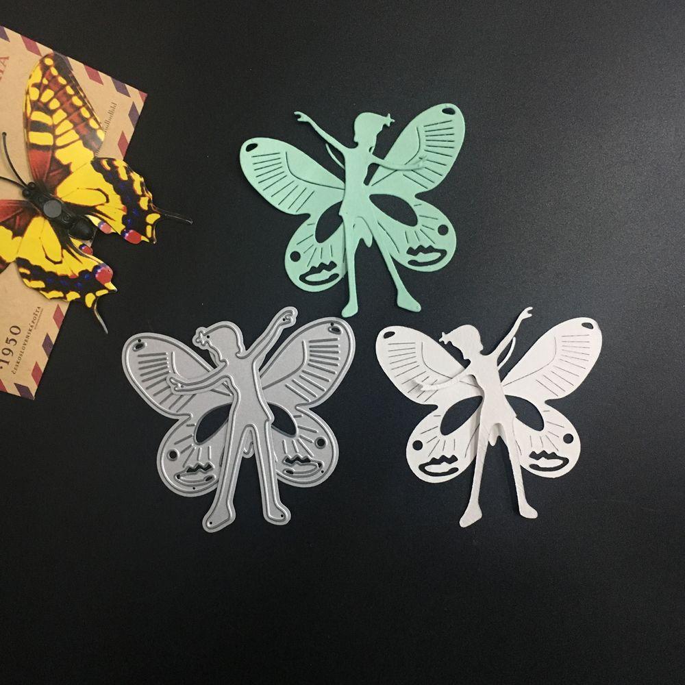 2pcs/Set Angel DIY Metal Cutting Dies Stencils for DIY Scrapbook Card Album Decorative Steel Cut Die Embossing Template