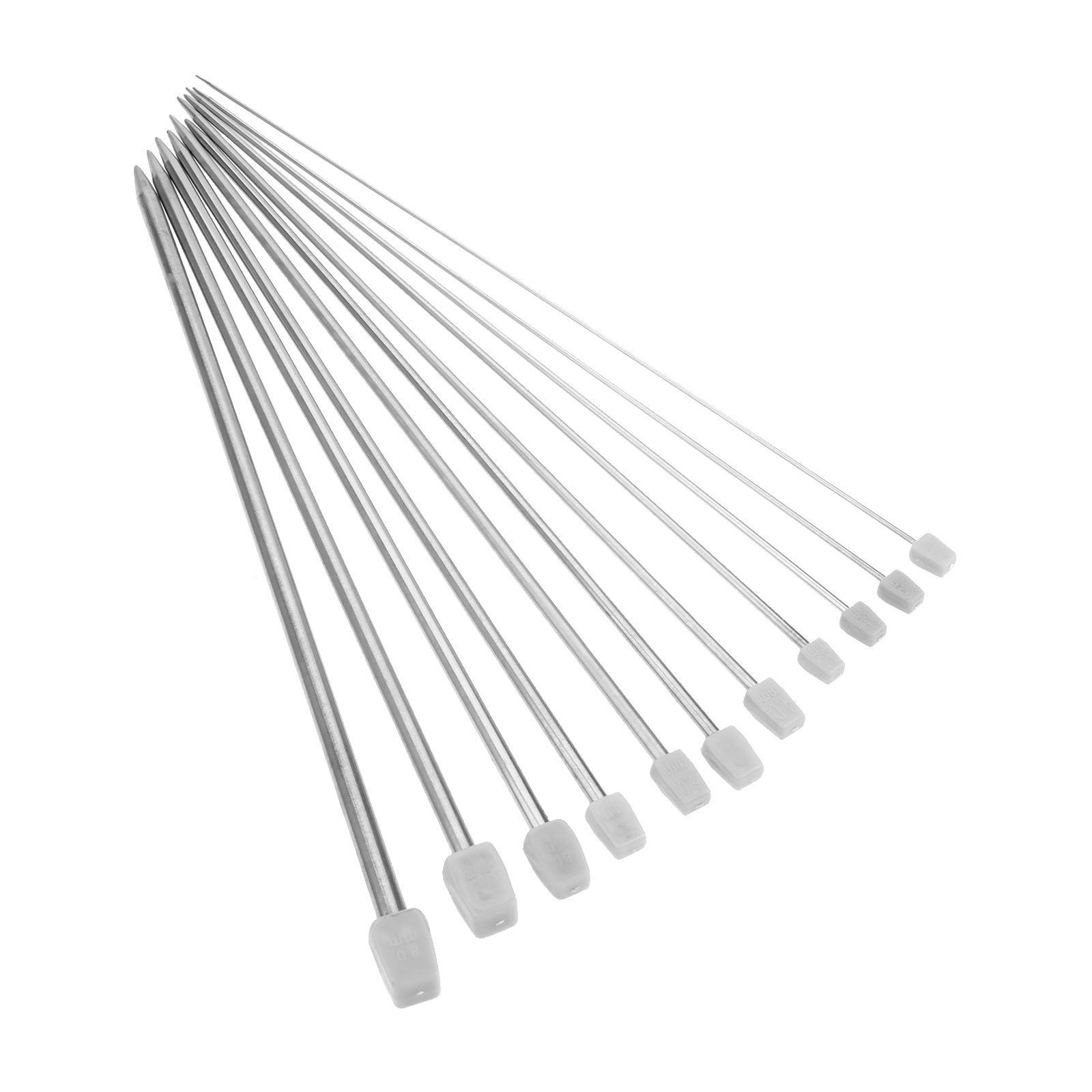 Silver /& Bonus 2 Needle Threaders for you! Steel Large-eye Blunt Sewing Needles,Yarn Tapestry darning Embroidery Knitting Needles,Assorted size of 9 Pcs