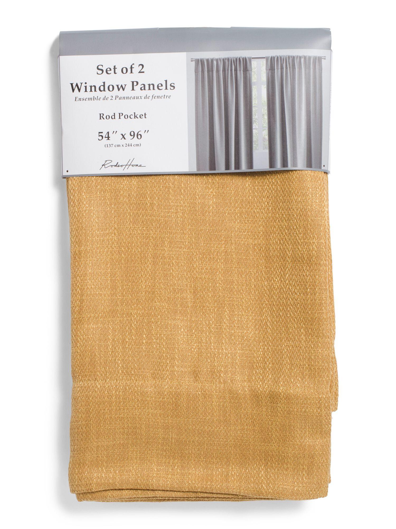 54x96 Set Of 2 Reno Linen Look Curtains New Arrivals T J Maxx