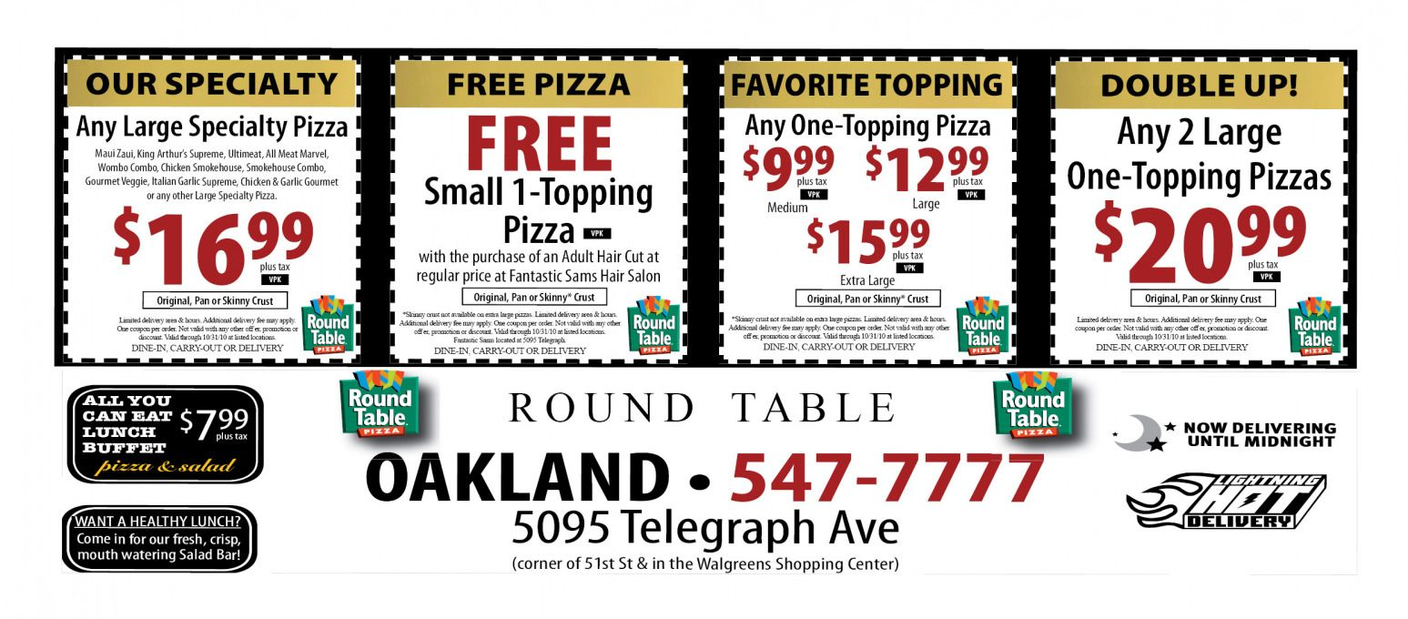 Round Table Pizza Coupons Online Best Office Furniture Check - Round table delivery fee