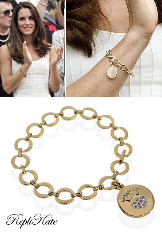 Replikate Of Gold Charm Bracelet 22 Estilo Kate Middleton Kate