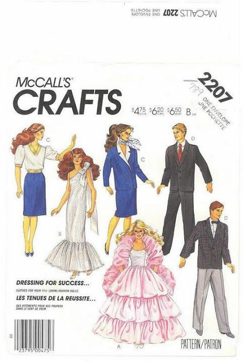 Free Copy of Pattern - McCalls 2207 | Barbie Patterns - McCall\'s ...