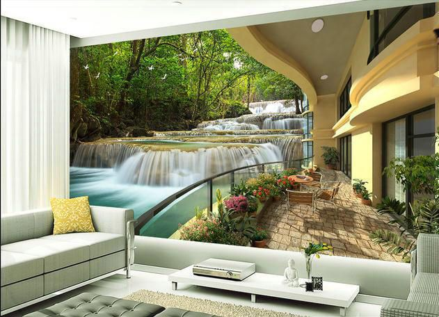 Wallpaper 3d Forest Resort Large Mural Wallpaper Mural Wall Paper