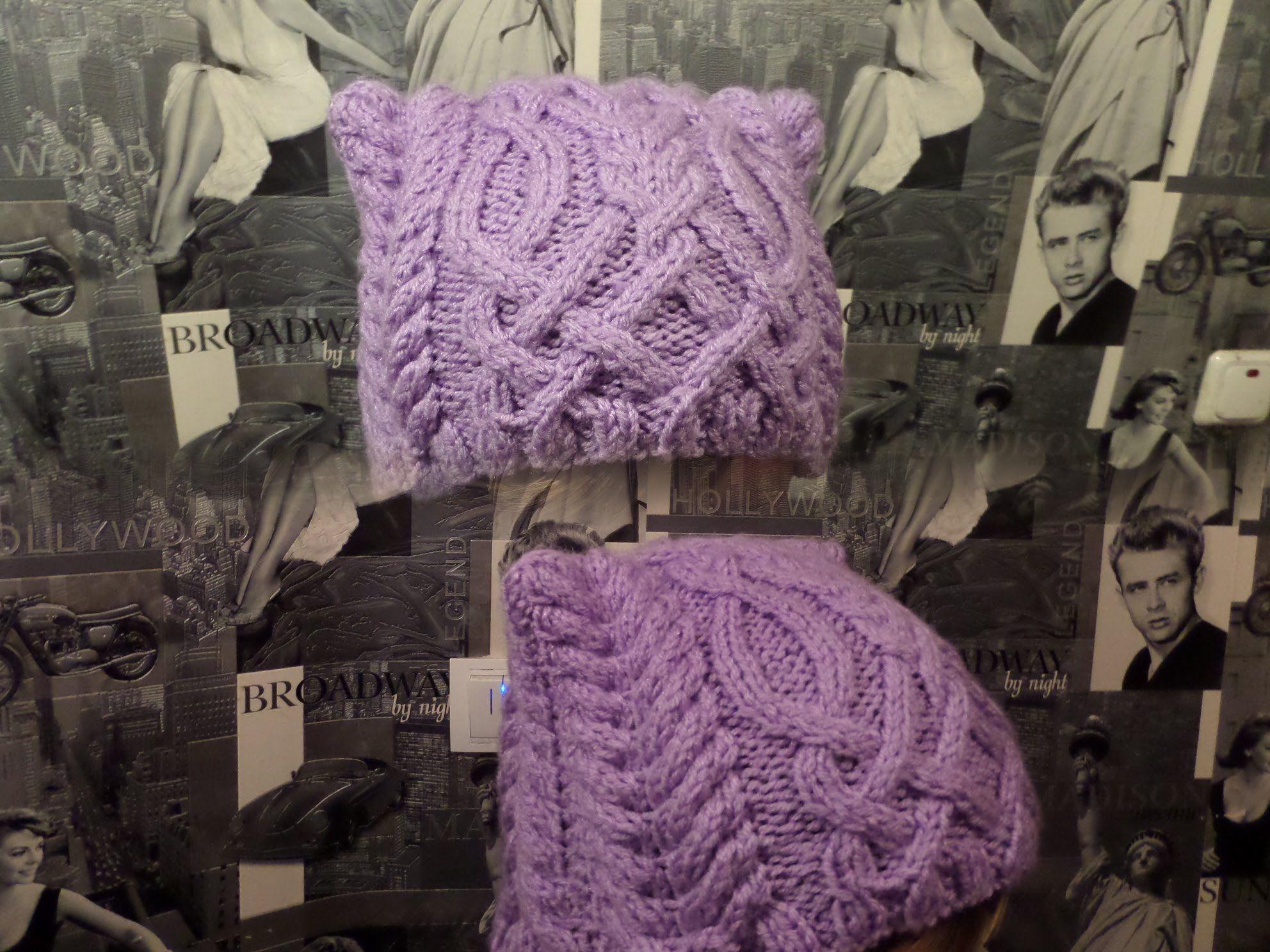шапки вязаные косы спицами женские 2013 схемы