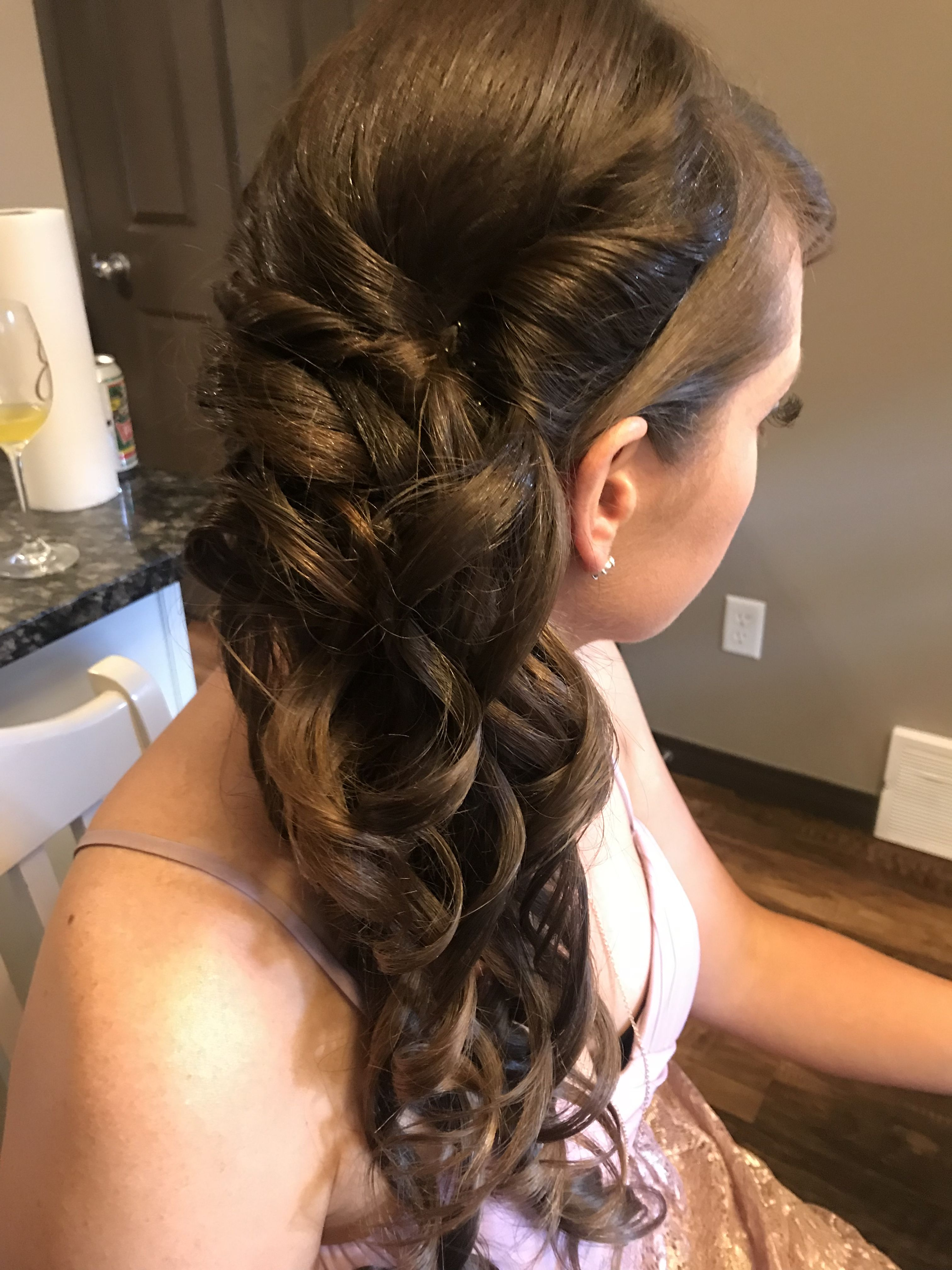 Beautiful side swept hair. Hair and makeup by Beautiful ...