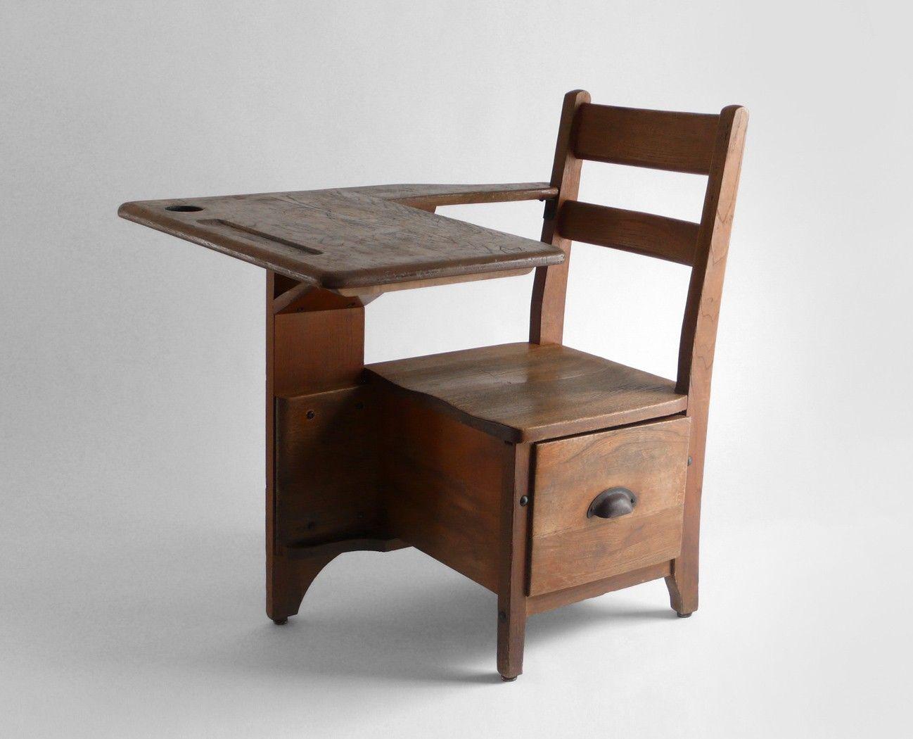 Pin By Tricia Roux On Bench Chair Sofa Stool Old School Desks Vintage School Desk Antique School Desk