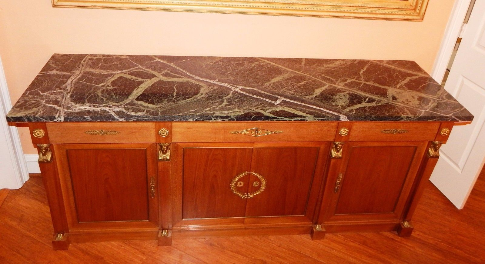 Vintage French Empire Provincial Buffet Sideboard Credenza Cabinet Marble Top https://t.co/E8bpQJJZxB https://t.co/UmFLAzxCWD