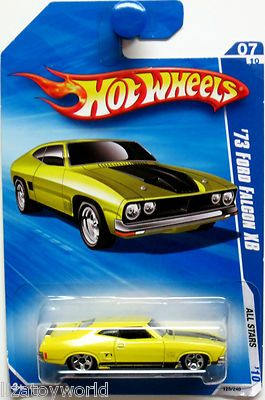 Ford Falcon XB Hot Wheels 2010 ALL STARS #07/10 Yellow (Good Condition)