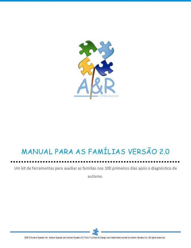 Manual Autismo para as_familias_versao_2 by caminhosdoautismo blog via slideshare