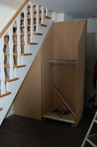 Rangement escalier recherche google sous escalier - Idee rangement sous escalier ...