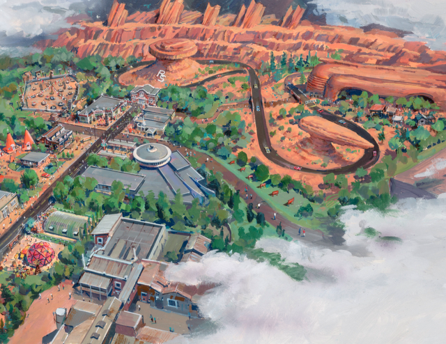 Cars Land in California Adventure (I can't wait to take my boys someday).