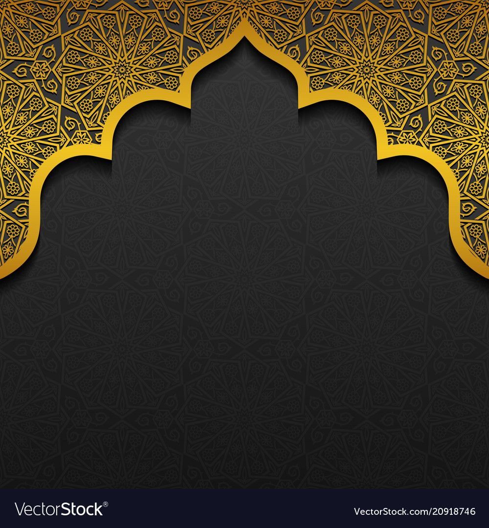Floral Background With Traditional Ornament Vector Image
