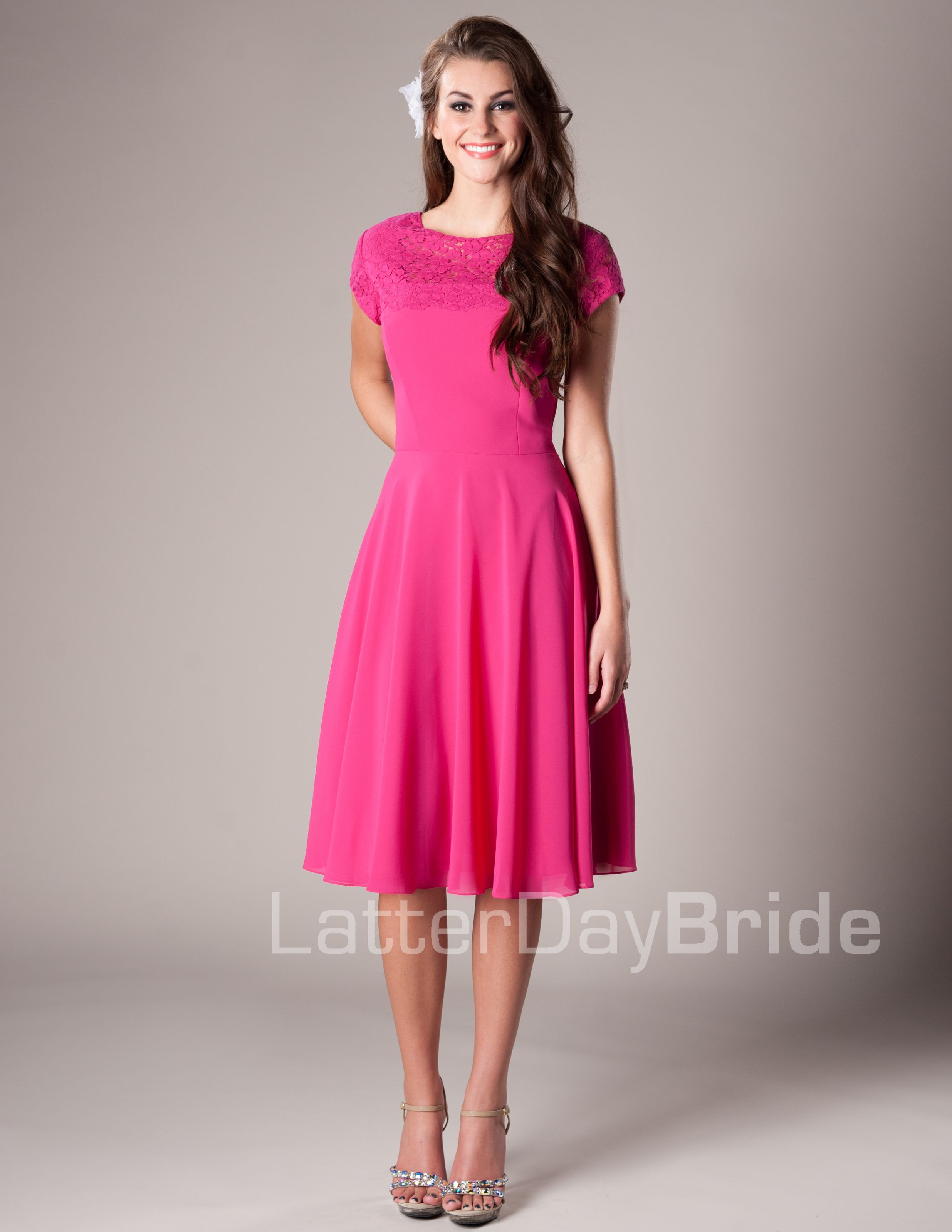 Amber Modest Mormon LDS Bridesmaid Dress | vestidos y faldas ...