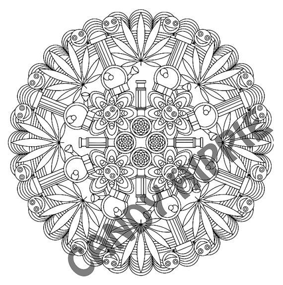 Mandala Coloring Page - Marijuandala - printable coloring page for ...