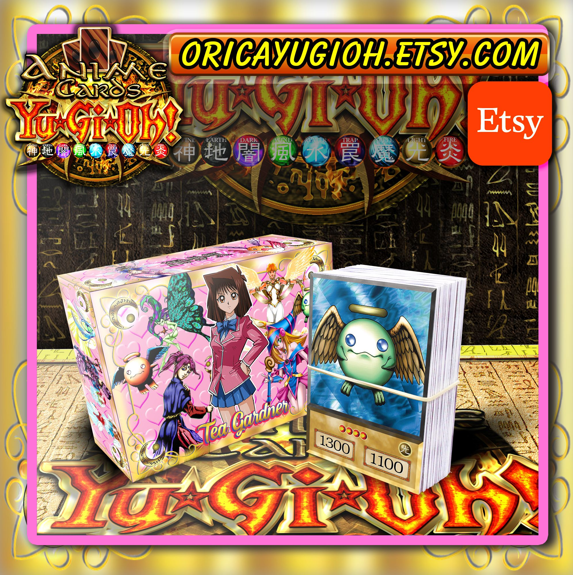 Tea Gardner Deck Orica Yugioh! Anime Cards Etsy Magician