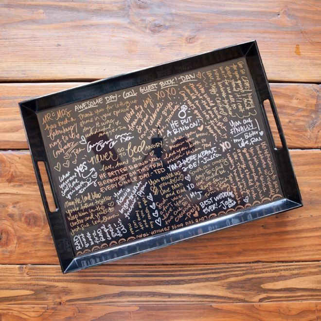 Make Your Own Resin Coated Guest Book Serving Tray! | Resin, Trays ...
