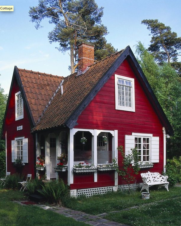 #Cottage Love @thedailybasics  ♥♥♥ #smallporchdecorating