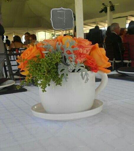 Centro de mesa boda Cecy & Gil