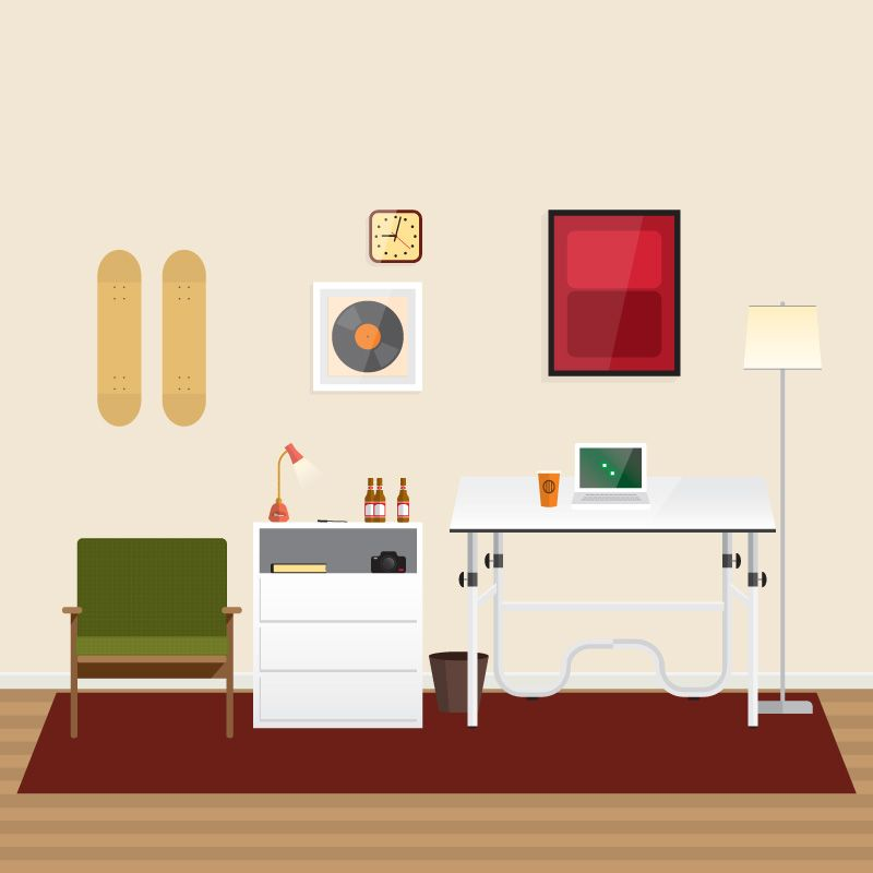 Home Office Illustration - Mason Detroit – An Illustration and Design Studio