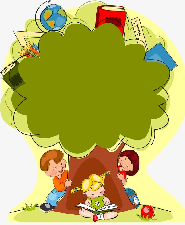 Cartoon Painted Trees And Children Png And Vector Cartoon Painting Clip Art Borders Clip Art The painting will be signed by me,the artist, and shipped directly from my studio. cartoon painted trees and children png