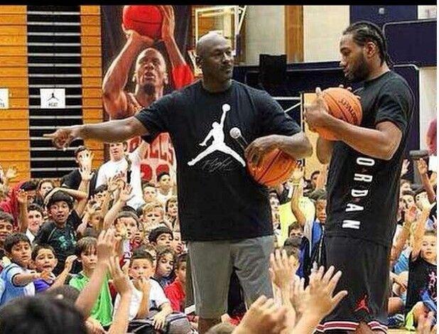 Spurs Kawhi Leonard \u0026 Michael Jordan at