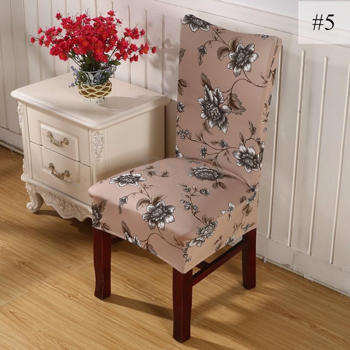 Room 8 X Super Fit Removable Chair Cover Dining Seat Protector Slipcover Stretch