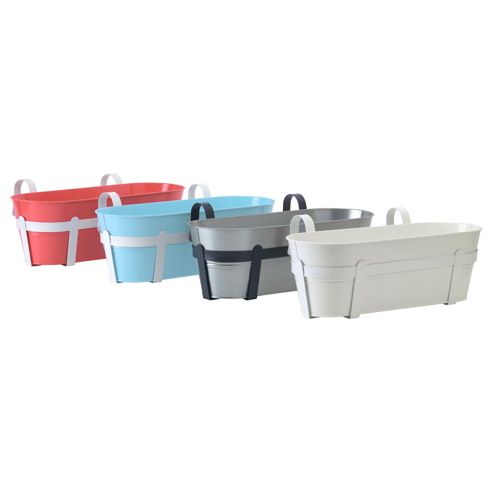 Ikea - SOCKER Flower box with holder, in/outdoor, assorted colours ...