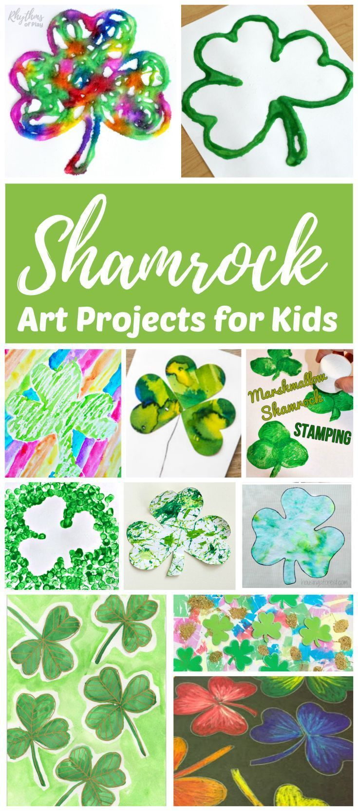 Shamrock And Four Leaf Clover Art And Craft Ideas Shamrock Art