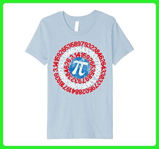 95c5a520d Kids Captain Pi Superhero Shield Premium T-Shirt for Math Geeks 6 Baby Blue  - Math science and geek shirts (*Amazon Partner-Link)