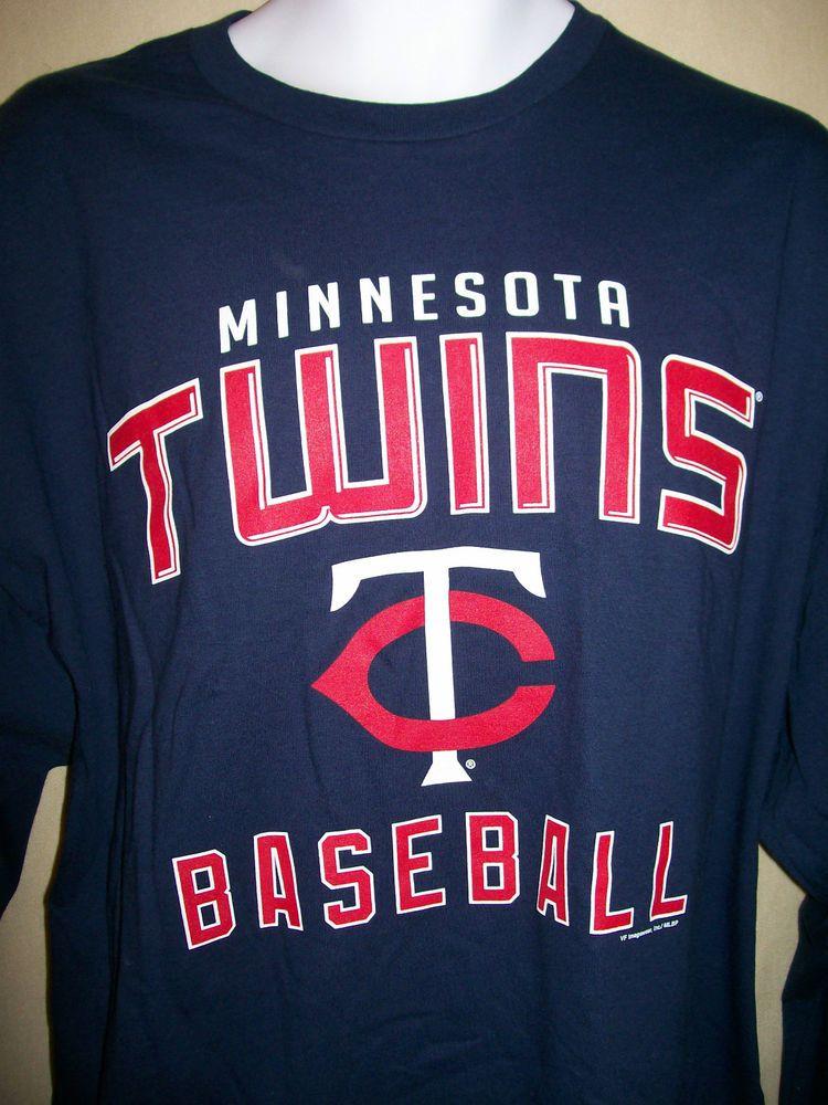 MINNESOTA TWINS MLB MEN'S T SHIRTLONG SLEEVES 2XLBLUE