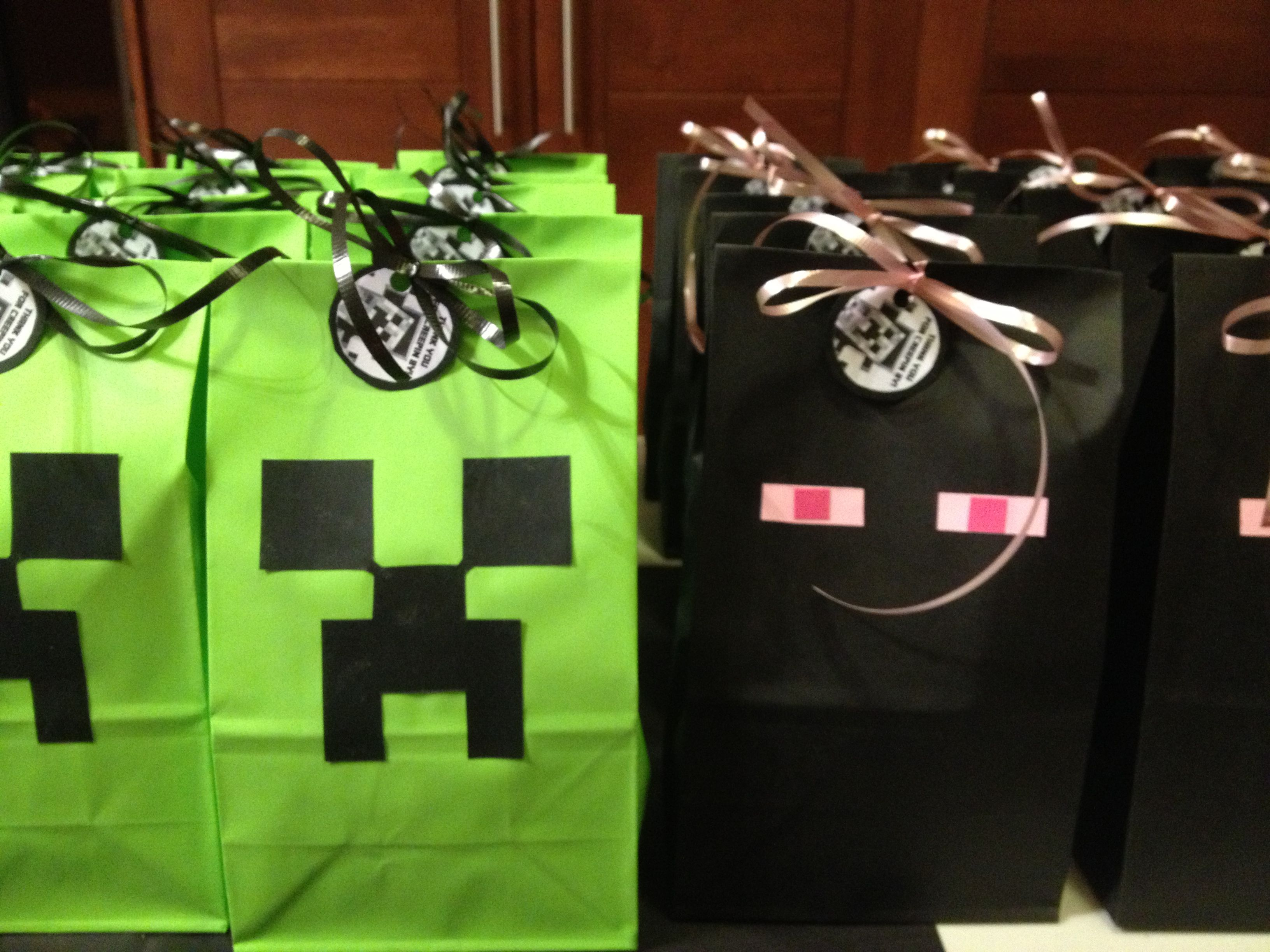 Mine craft birthday ideas - Minecraft Party Favors