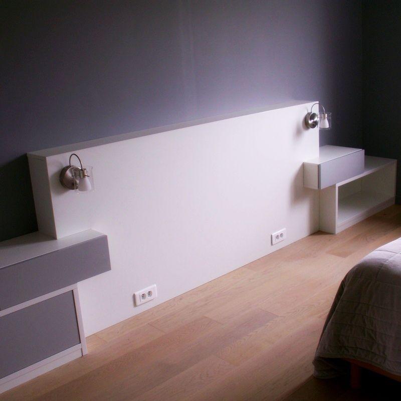 Tête de lit et tables de nuit intégrées, les avantages du 100 sur