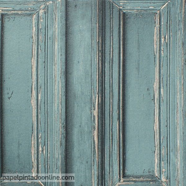Papel pintado metaphore mte 6566 60 92 imitaci n puerta o pared de madera con molduras - Papel pintado para puertas ...