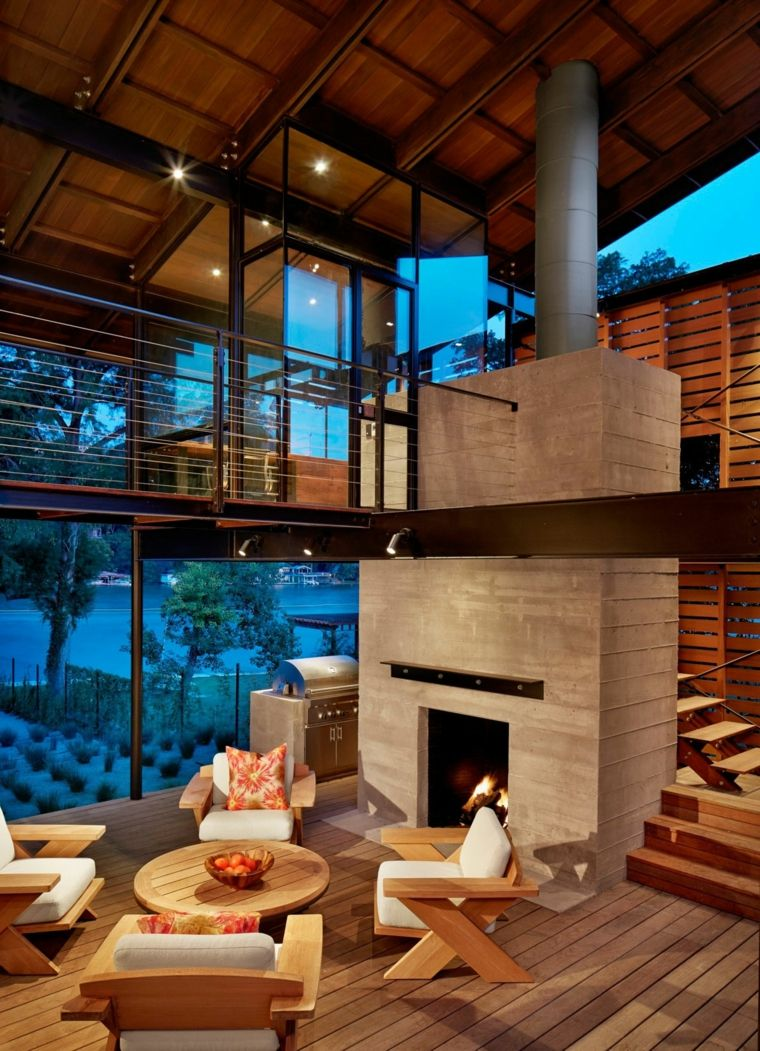 Moderne Wohnzimmerdekoration 50 Designs in Weiß und Holz | Pinterest ...