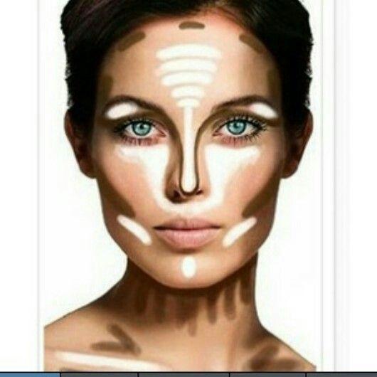 Face Contour Map Nice contour map : )   Make me up   Makeup tips, Makeup, Contour  Face Contour Map