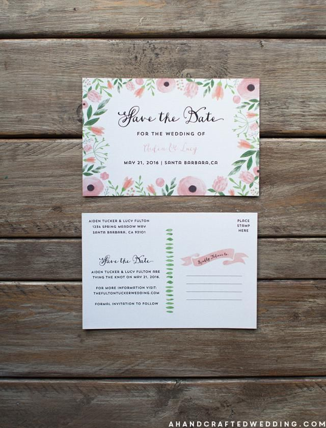 These free, printable save the date templates will help you create