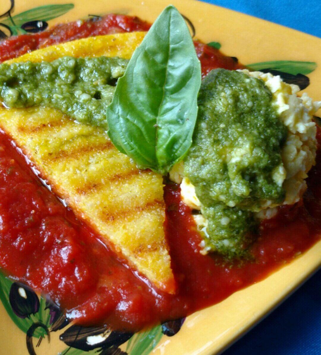 Ham And Avocado Scramble Recipe: Beazley House Grilled Polenta With Cheesy Egg Scramble