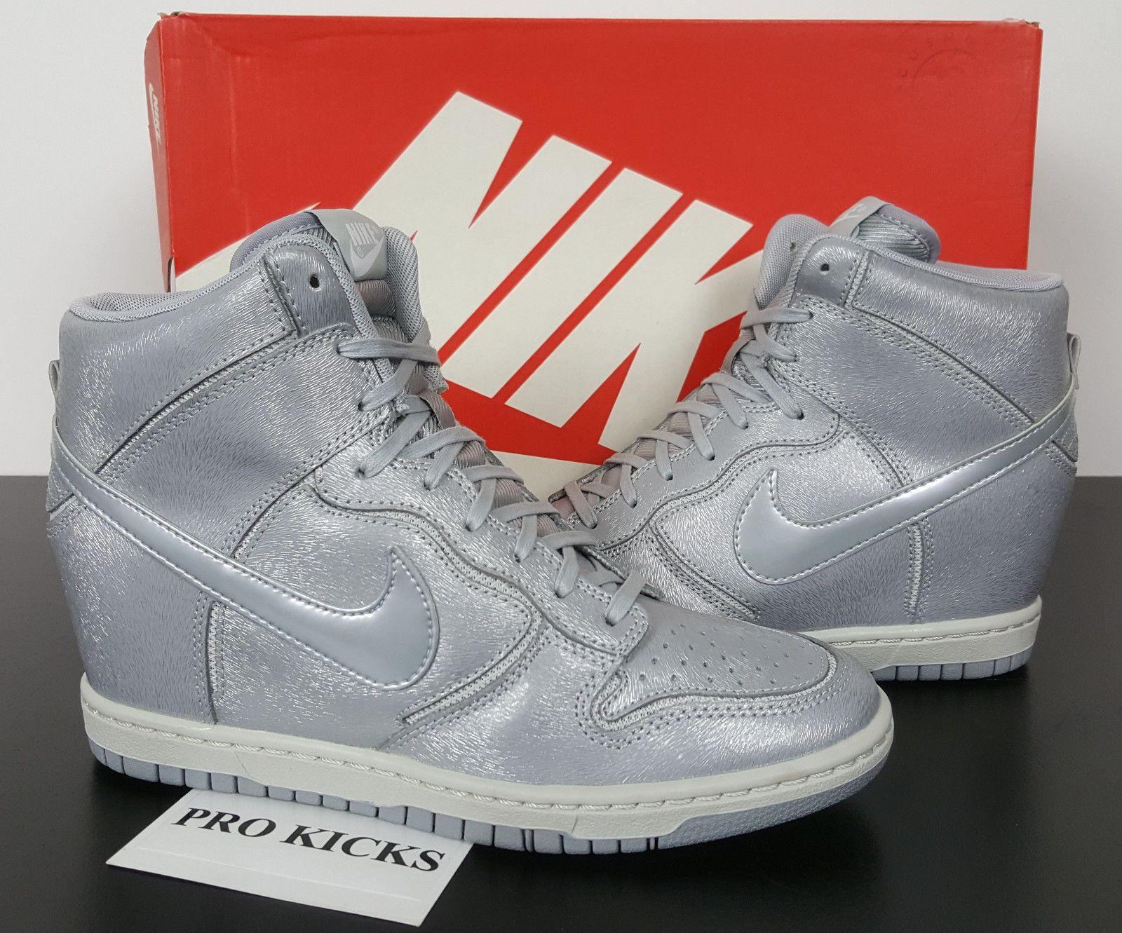 WOMENS NIKE DUNK SKY HI CUT OUT PREMIUM WOLF GREY RARE NEW 644411-001 (